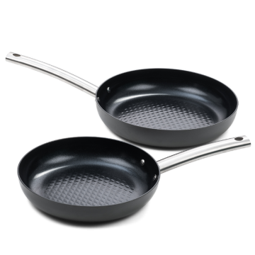 Murray combideal: Twee keramische koekenpannen 2 delig - RVS grepen