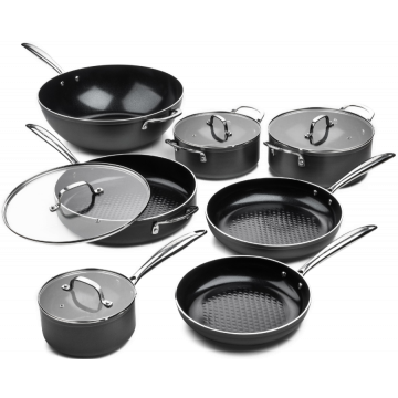 Victoria Forged Chef Deluxe Pannenset 7 delig - RVS grepen