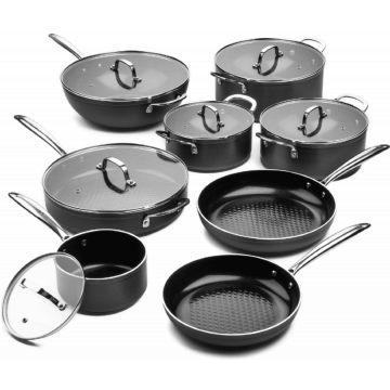Victoria Forged Chef Totaal Pannenset 8 delig - RVS grepen