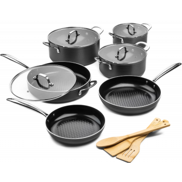Victoria Forged Speciaal set - Pannenset 6 delig - RVS grepen